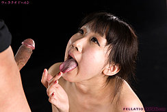 Tongue Extended Covered In Cum