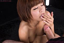 Hayase Akari Licking Cum From Her Fingers