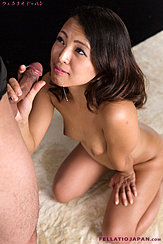 Kagawa Misato Kneeling Nude Pert Breasts Holding Cock Cum Dripping From Her Lips To Her Breasts