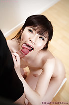 Licking head of cock on her knees nude
