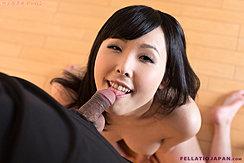 Kneeling Nude Looking Up Licking Head Of Semi Erect Cock