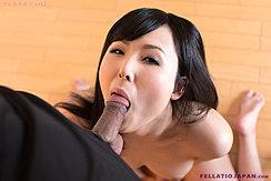 Yokoyama Natsuki Performing Oral Sex Kneeling Naked