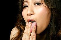 Inamori Erika giving handjob and tasting thick cum