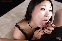 Beauty Miyanaga Kaori in stockings giving handjob