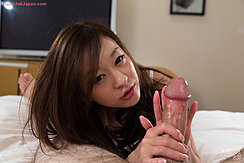 Stroking Thick Cock With Her Fingers
