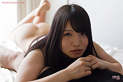 Lying On Her Front Bare Feet Raised Nice Ass Long Hair