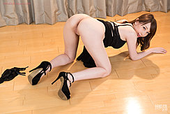 On All Fours Nice Ass Raised Wearing Black High Heels