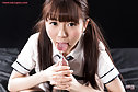 Student Araki Mai giving handjob in uniform licking cum fingers
