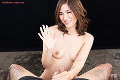 Natsuki Reina Raising Cum Covered Hand Small Breasts Holding Spent Cock
