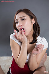 Hoshikawa Uika Licking Cum From Her Fingers