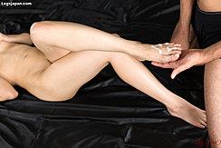 Leg Raised Cum Over Her Foot