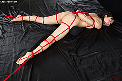 Naked Tied With Rope Arms Bound Behind Her Back