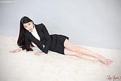 Lying On Her Side Bare Feet Long Hair