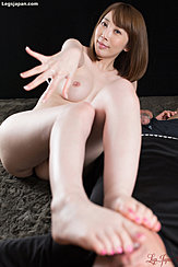 Aya Kisaki Reaching Out Her Cum Covered Hand Bare Feet