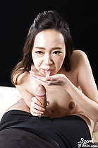 Isaka Nao spitting cum onto palm of her hand
