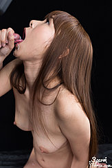 Kai Miharu Looking Up Receiving Cum In Mouth Bare Breasts Long Hair