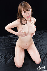 Kai Miharu Kneeling Nude Cupping Her Breasts