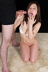 Licking Cum From Her Fingers Cum In Her Mouth Holding Hard Cock