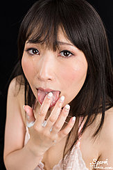 Sakiada Minami Licking Cum From Her Hand