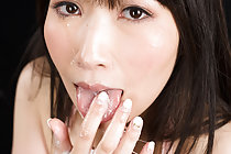 Sakiada Minami Sucking Cock In Lingerie Taking Cum In Mouth
