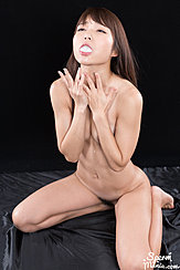 Kneeling Nude Cum In Her Mouth