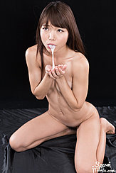 Spitting Cum Out Onto Her Hands
