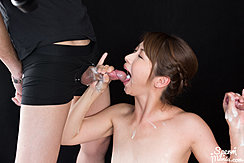 Katou Tsubaki Receiving Cum In Her Mouth