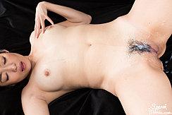 Fingering Her Breast Legs Open Cum On Her Pussy