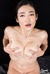 Enami Ryu Fondling Her Breasts