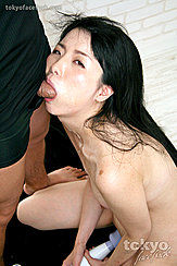 Cock Filling Her Mouth Using Toy On Her Pussy