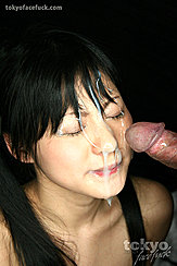 Cumming All Over Student Kawai Anri Face Cum Covered Face