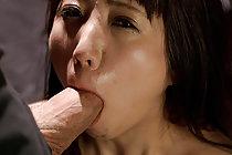 Small tits Hinami Ryo blow banging group with hands bound