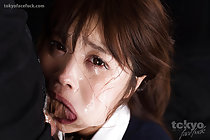 Office lady Yamashita Ayaka face fucked and deep throating