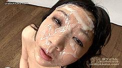 Japanese Kogal Face Covered In Bukkake Cum