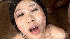 Face Covered In Creamy Bukkake Facials