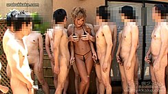 Rio Surrounded By Group Of Naked Men Stroking Their Cocks