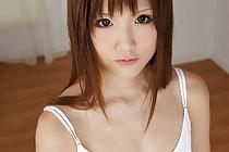 Pretty Chihiro masturbates and has her pussy covered in cum